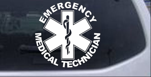 Emergency Medical Technician EMT Military car-window-decals-stickers