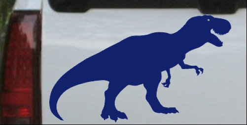 T rex car or truck window laptop decal