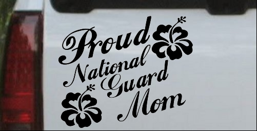 Proud National Guard Mom Hibiscus Flowers