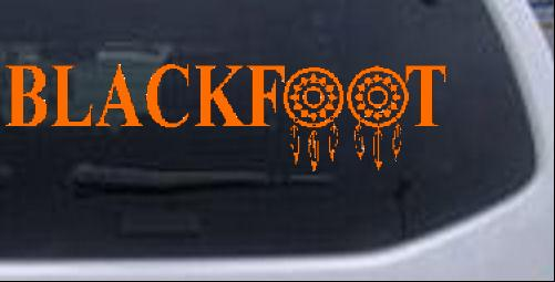 Blackfoot Indian Dreamcatcher Car Or Truck Window Laptop Decal - Country boy decals for trucks