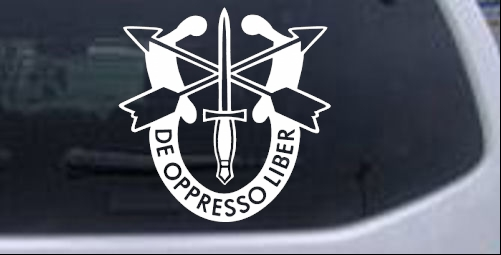 Details about Army Special Forces Crest Car or Truck Window Laptop Decal  Sticker White 6X5 9