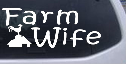Farm Wife Country car-window-decals-stickers