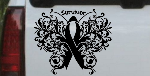 Cancer Survivor Butterfly Ribbon