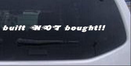 Built Not Bought Flames Off Road car-window-decals-stickers