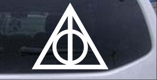 Harry Potter The Deathly Hallows Symbol Car Or Truck Window Decal