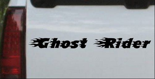 Ghost Rider Text With Flames