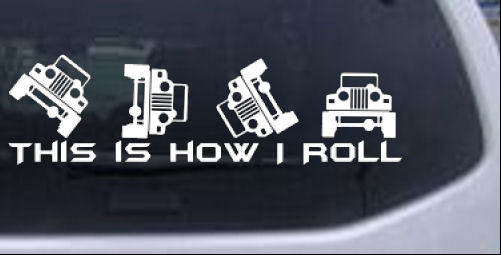 This is How I Roll Jeep Off Road car-window-decals-stickers