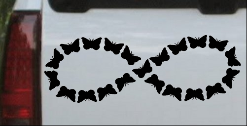 Infinity With Butterflys