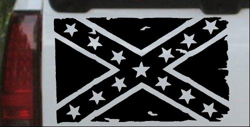 Confederate Southern Rebel Battle Flag Tattered