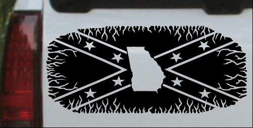 Confederate Rebel Battle Flag Georgia