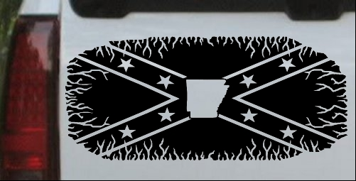 Confederate Rebel Battle Flag Arkansas