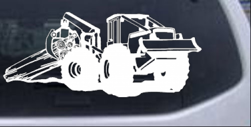 Track Hoe Excavator Construction Car or Truck Window Laptop Decal Sticker