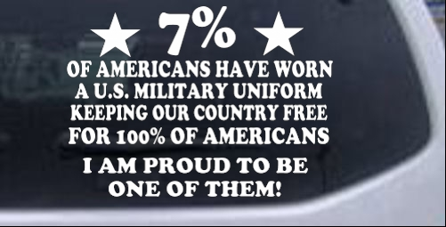 Proud To Be An America Soldier In Uniform Military car-window-decals-stickers