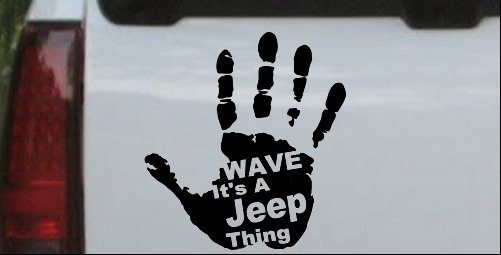Wave Its A Jeep Thing Muddy Dirty Hand