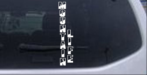 Mountain Life Country car-window-decals-stickers