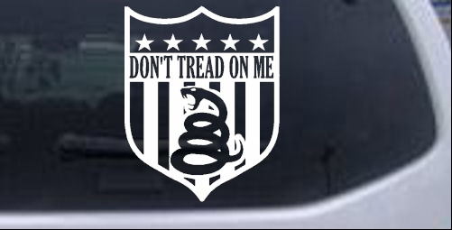 Gadsden Dont Tread On Me Shield Military car-window-decals-stickers