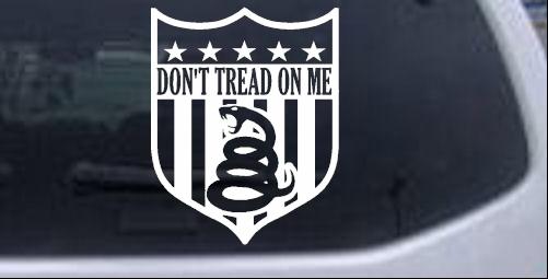 Gadsden Flag Dont Tread On Me Shield Car Or Truck Window Laptop - Window decal sticker