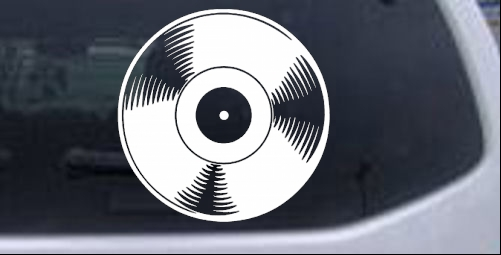 Record Lp Music car-window-decals-stickers