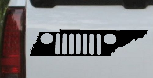 Tennessee Jeep Grill Car Or Truck Window Decal Sticker Or Wall Art - Custom windo decals for jeeps