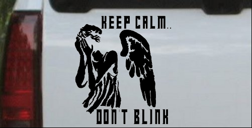Doctor Who Keep Calm Dont Blink  Weeping Angels