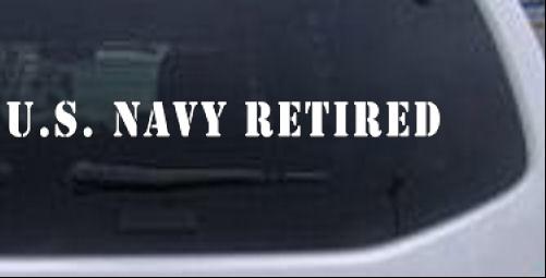 U S Navy Retired Military car-window-decals-stickers