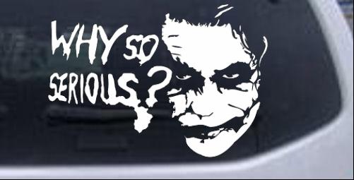 Why so serious joker batman car or truck