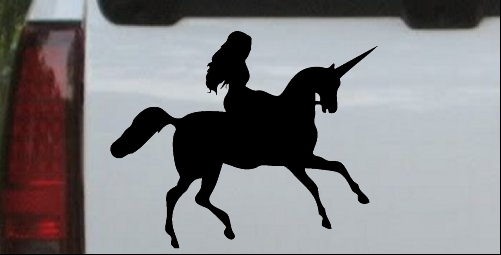 Woman Riding Unicorn