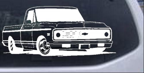 Classic Chevy Truck Car Or Truck Window Decal Sticker Rad