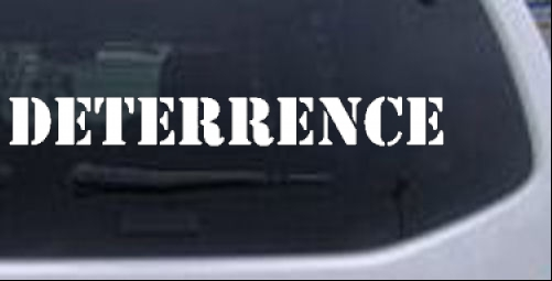 DETERRENCE Military car-window-decals-stickers