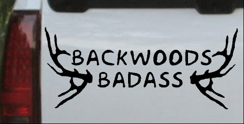 Backwoods Badass Car Or Truck Window Decal Sticker Or Wall Art - Badass decals for trucks