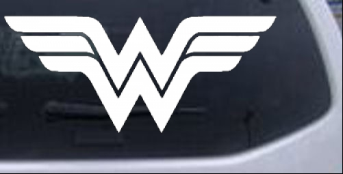 Wonder Woman Symbol Logo Car Or Truck Window Decal Sticker Rad Dezigns