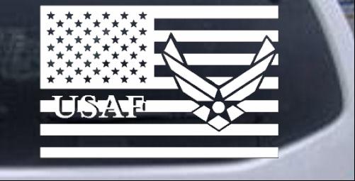 Air force decal sticker veteran retired military car truck window.