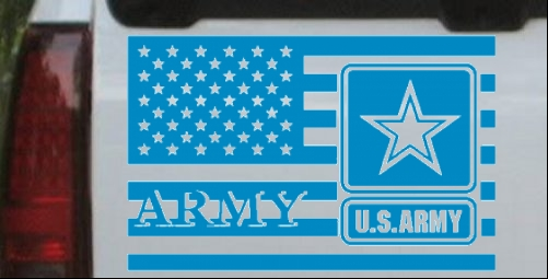 US Army Air Defense Artillery GUARDING THE SKIES Car Truck Window Decal Sticker