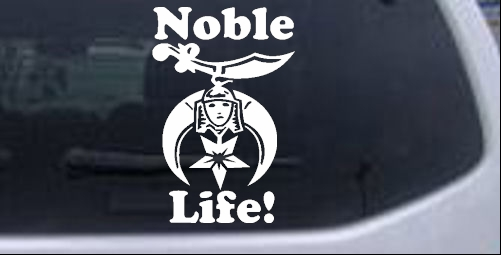 Noble Life Shriner Other car-window-decals-stickers