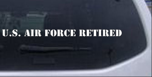 US Air Force Retired text Military car-window-decals-stickers