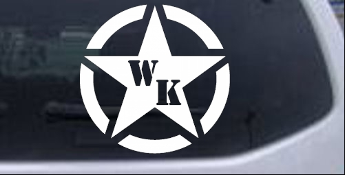Military Jeep WK Segmented Star Off Road car-window-decals-stickers