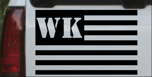 Jeep WK American USA Flag Right