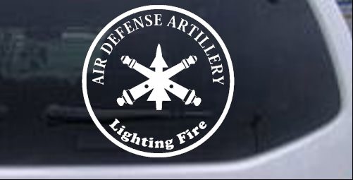 US Army Air Defense Artillery Lighting Fire Military car-window-decals-stickers