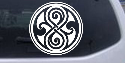 Doctor Who Time Lord Symbol Seal Of Gallifrey Car Or Truck Window