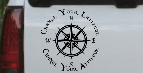 Change Your Latitude Change Your Attitude with Rose Compass