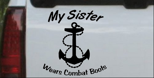 My Sister Wears Combat Boots Navy