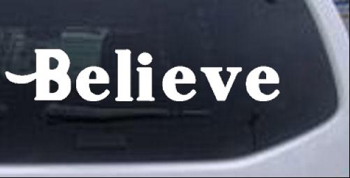 Believe Christian car-window-decals-stickers