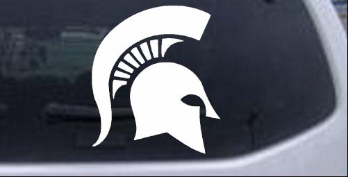 Spartan Viking Helmet Sci Fi car-window-decals-stickers