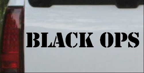 Black Ops in Army Font