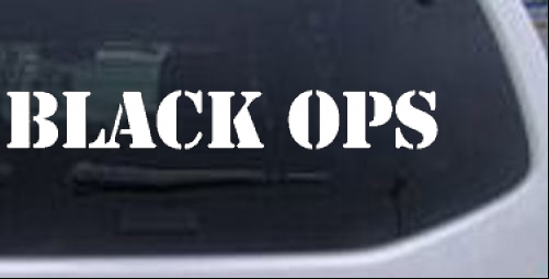 Black Ops in Army Font Military car-window-decals-stickers