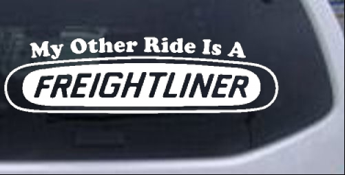 My Other Ride is A Freightliner Moto Sports car-window-decals-stickers