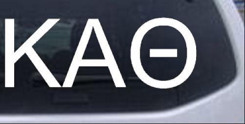 Kappa Alpha Theta Greek Letters Car or Truck Window Decal