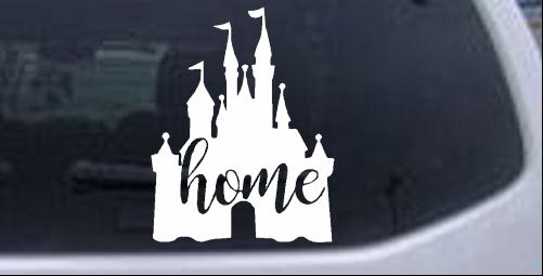 Cinderella Castle Home Disney Parody Cartoons car-window-decals-stickers