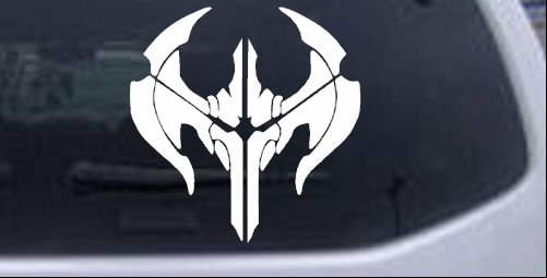 League of Legends Noxus Crest Sci Fi car-window-decals-stickers