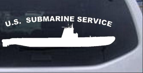 US Navy Submarine Service Balao Class Military car-window-decals-stickers